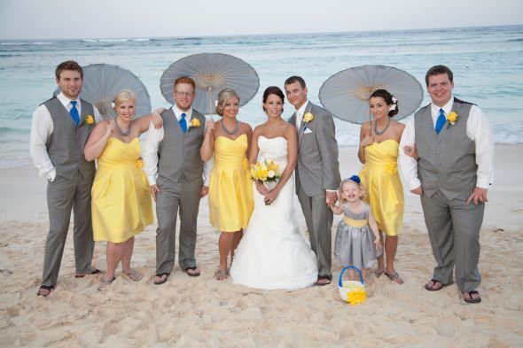 Perfect Colors! Yellow, gray and blue. | Wedding Time ...