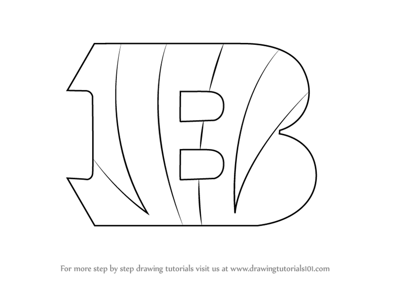 Learn How to Draw Cincinnati Bengals Logo (NFL) Step by Step ...