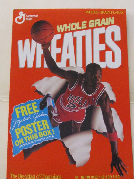 Michael Jordan Collectible Wheaties Posters From 1989 Chicago Bulls