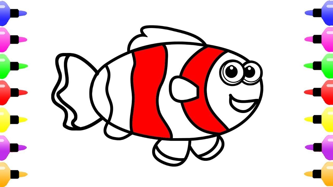 How to Draw Anemonefish for Baby Coloring Pages for Girls | Coloring ...