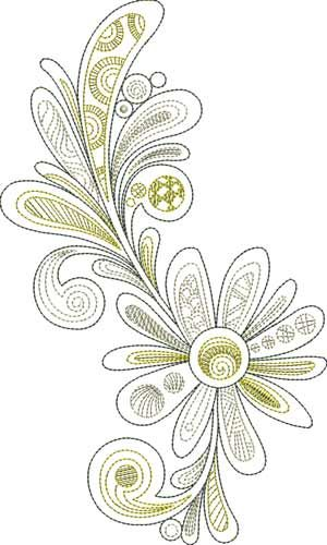 Fab Flower from the BERNINA Exclusive Embroidery Collection – Fab Feathers #21008 Note to All, Bernina has put out a great on line newsletter with tons of ideas and just a delight....thank you Bernina