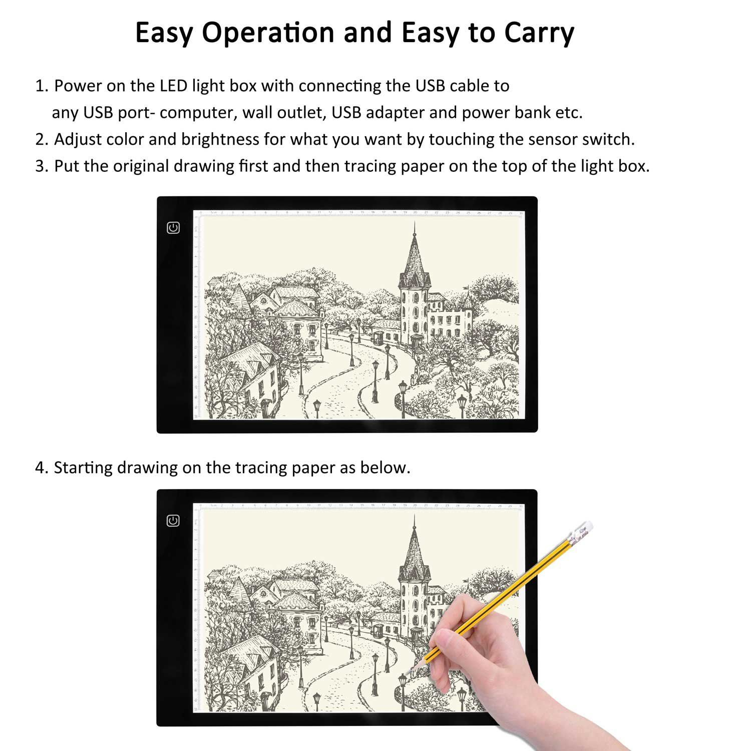 Tracing Light Box A4 Led Pad For Artists Drawing Dimmer Switch Wiringdimmerswitchsketch1jpg Sketching Animation