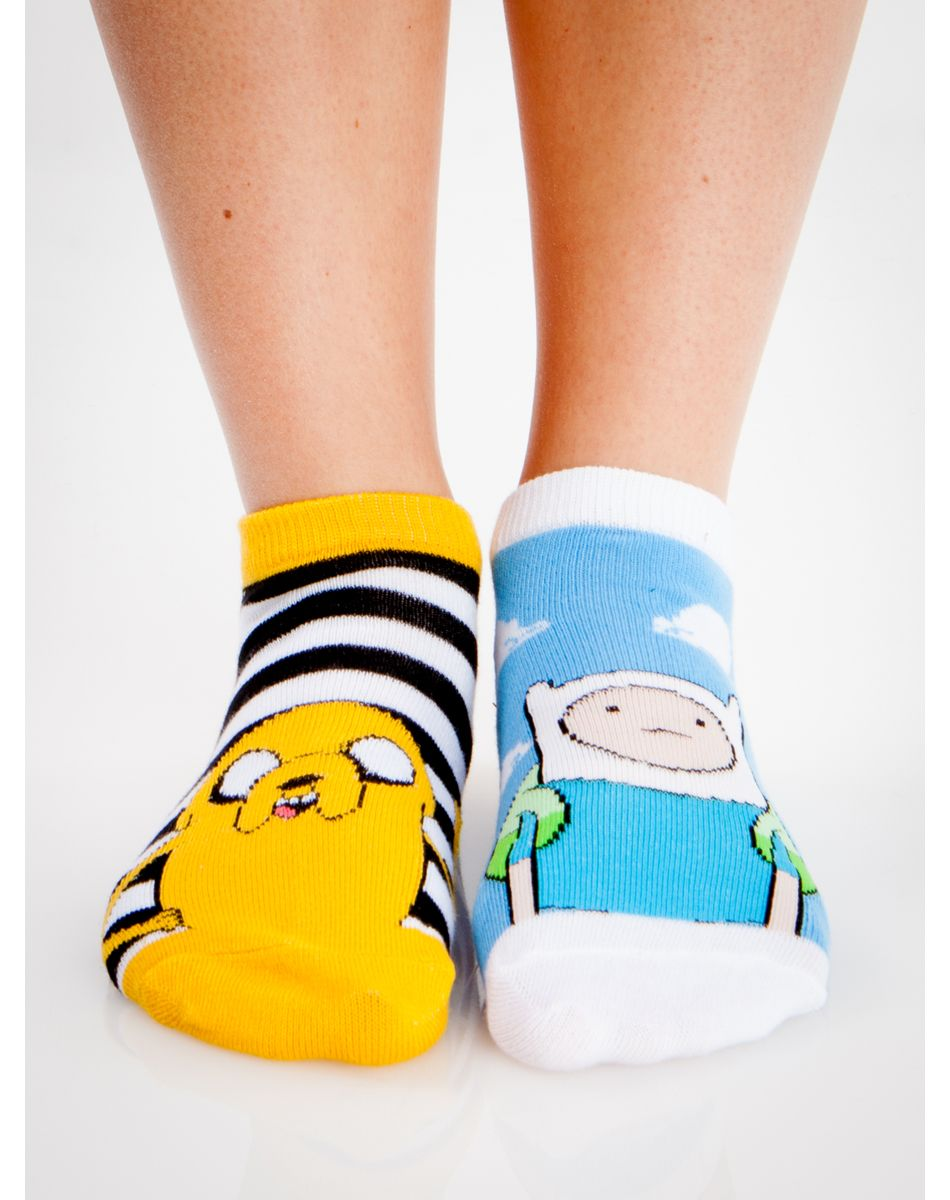 Adventure Time Mix and Match Print No Show Socks 10 Pk - Adventure Time Mix And Match Print No Show Socks 10 Pk Adventure
