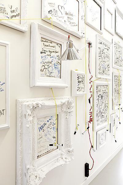 guest wall | Interiors | Pinterest | Marcos, Cuadro y Libro de visitas