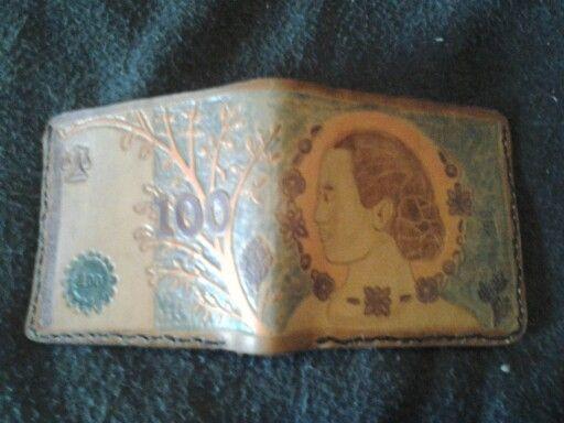 Evita 100 peso, Leather Wallet
