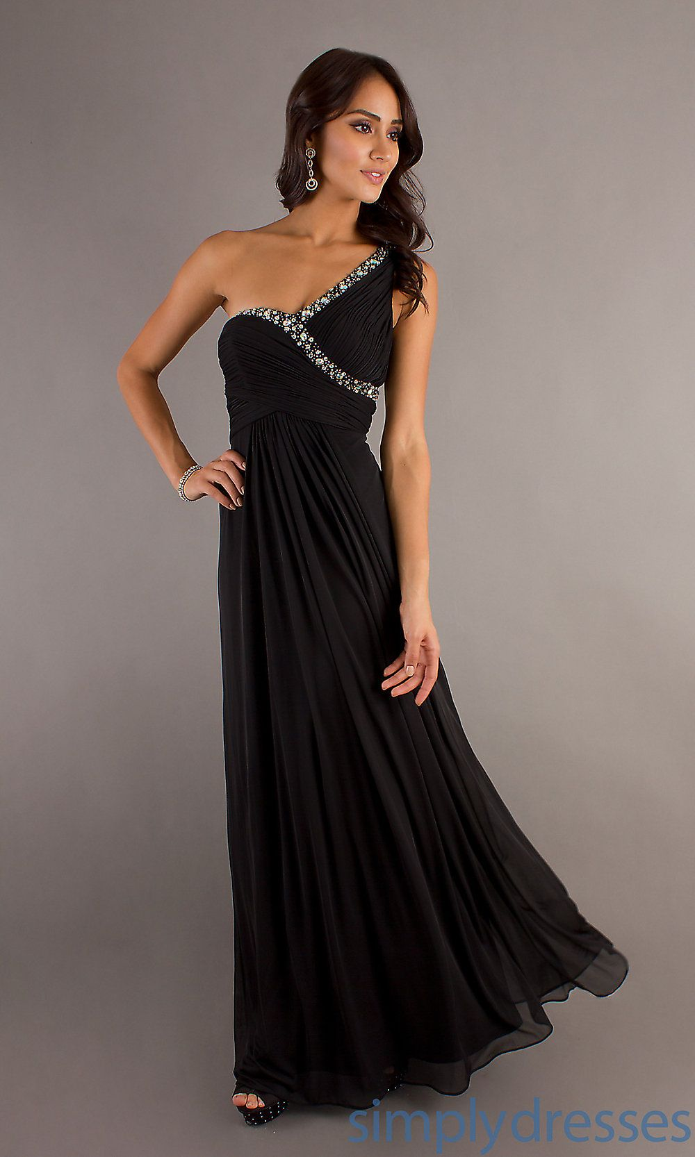 Images of Long Black Formal Dress - The Fashions Of Paradise