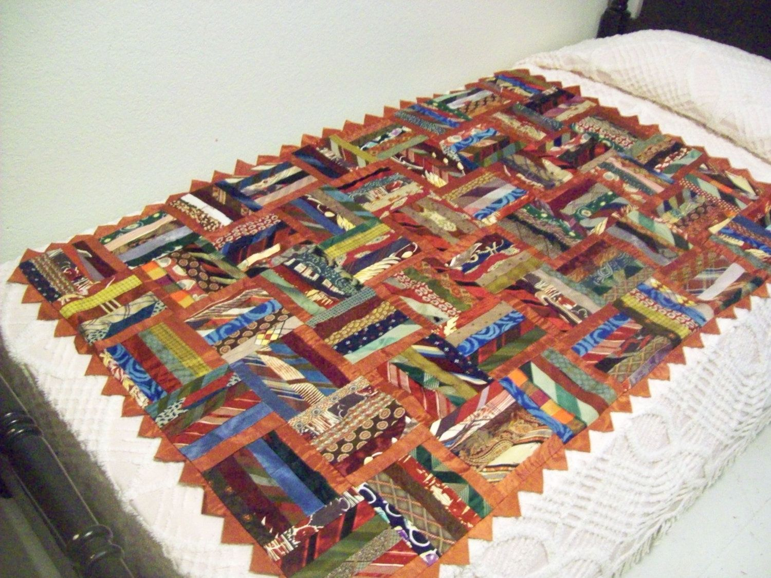 quilts made from ties | Mens Tie Quilt by grannysapronstrings on ... : silk tie quilts patterns - Adamdwight.com