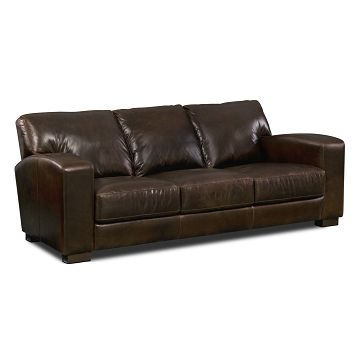 Pullman Leather Sofa Furniturecom 142499 96x35x45 Decor