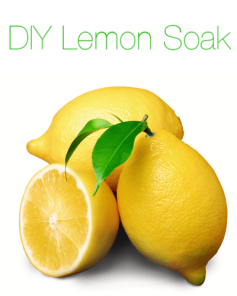 Lemon Soak. Tightens skin and gives it a glow!