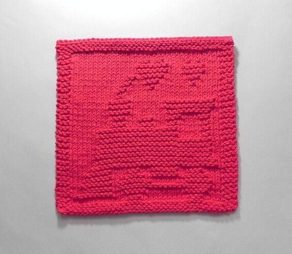 TRAIN Baby Wash Cloth. Hand Knitted 100% von AuntSusansCloset