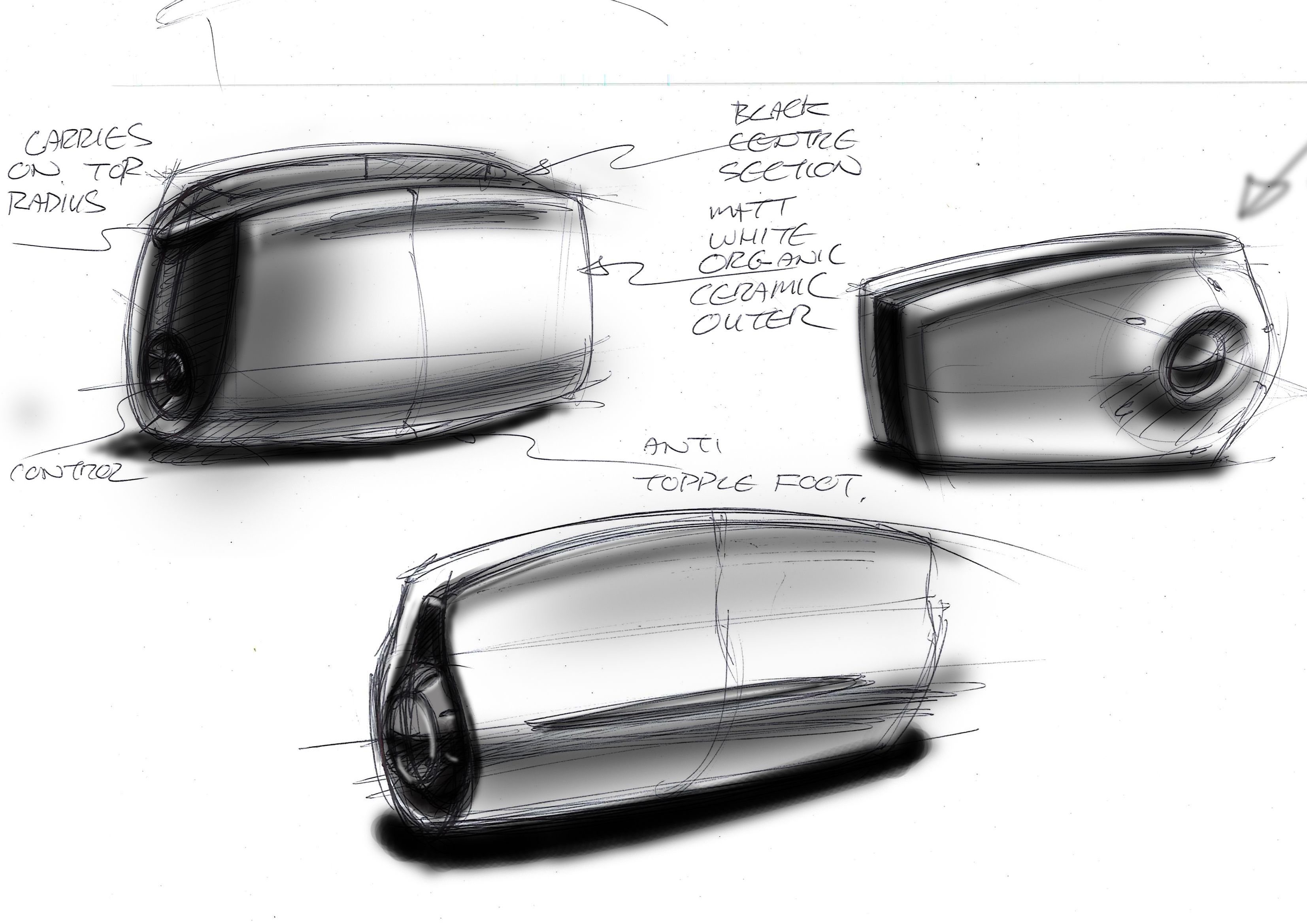 Grille Pain Design Quick Toaster Sketches By Ian Storer Concept Art Sketching