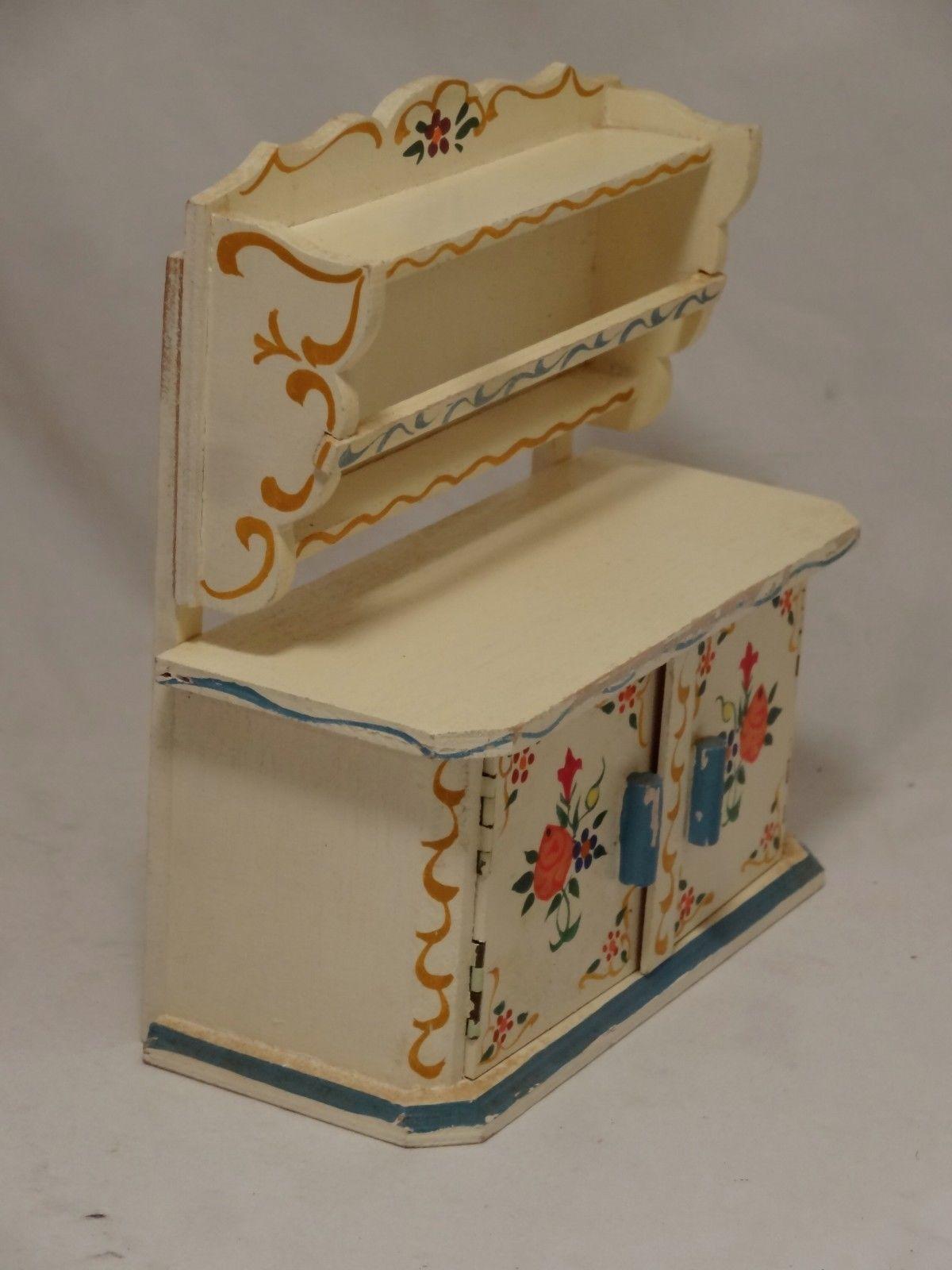 Dora Kuhn Rare Kitchen Cupboard Vintage German Dollhouse Furniture Dollhouse Furniture Doll House Kitchen Cupboards