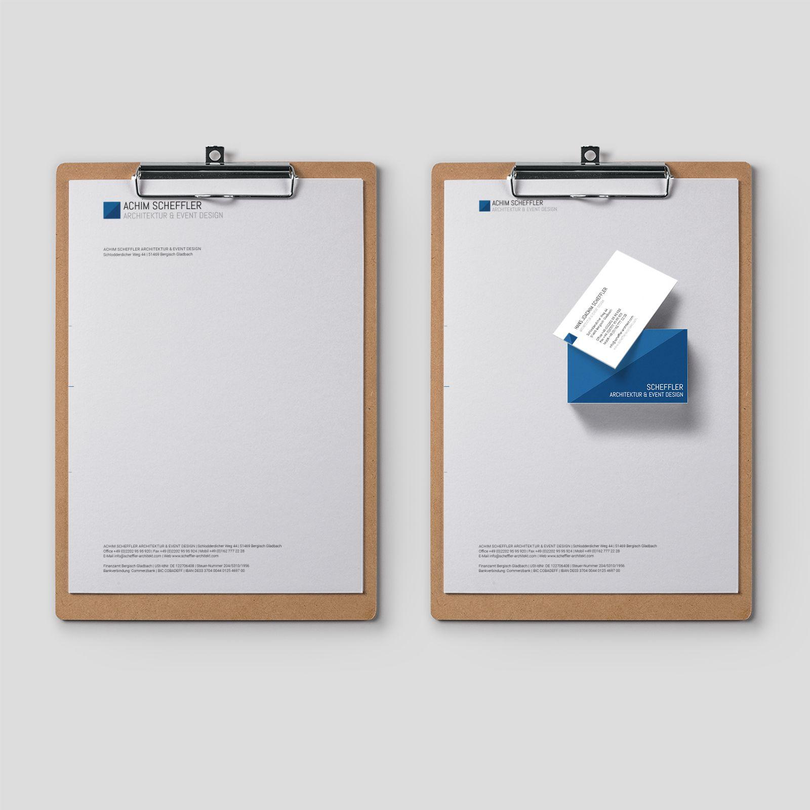 Corporate Design Branding Fur Achim Scheffler Visitenkarten Und Briefpapier Made By Kirch Kriewald Let Corporate Design Briefpapier Bildungsarchitektur