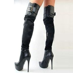 Shoespie Side Zipper Buckles Over Knee High Boots | Fashion ...