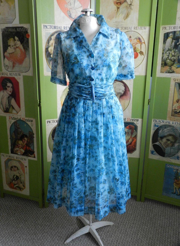 Vintage 1950s Garden Party Dress \