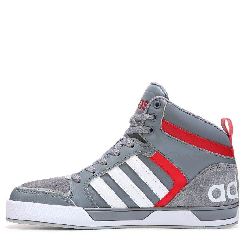Adidas Men's Neo Raleigh 9TIS High Top Sneakers (Grey/Red)