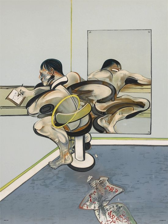 metrocopuksboy, moodoofoo:   Francis Bacon Figure Writing...