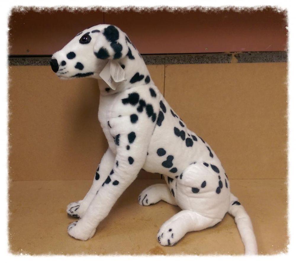 Large Dog Soft Plush Cuddly Toy Sitting Dalmation Life Size New