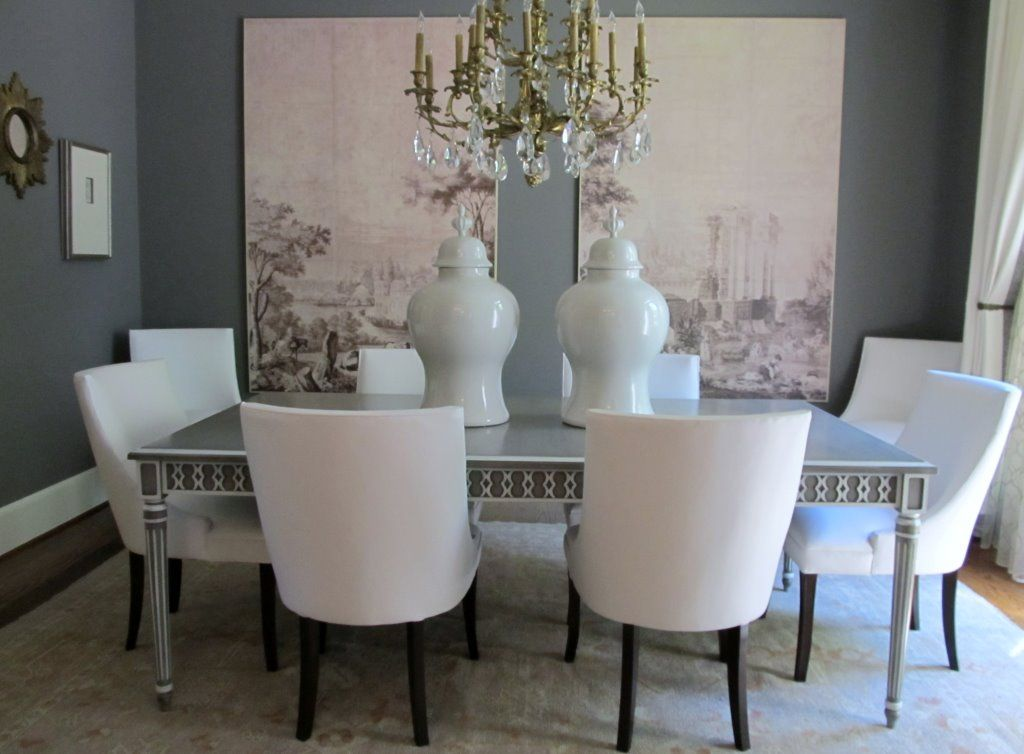 Room Dindy Foster Interiors In Tulsa Oklahoma Shared This Picture Of The Gustav Rectangular Dining Table