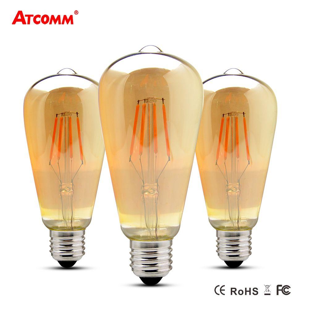 E27 Led Filament Ampoule 4 W 6 W 8 W Ampoule Led E27 Vintage Antique Retro Edison Bombillas 110 V 220 V Dimmable St64 Led Diode Lampada Vintage Edison Bulbs Filament Lighting Led Diodes