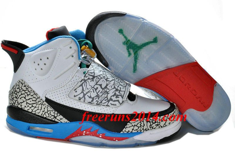 on sale 1b27d 85577 Air Jordan Son of Mars Olympic Grey Maize Charcoal Sapphire Red Black Men s  Sneakers