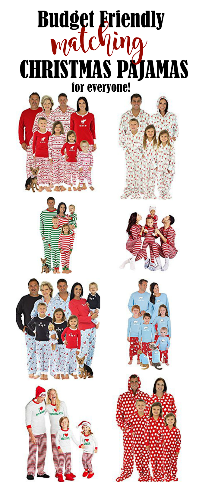 Matching Christmas Pajamas for the Entire Family | Gift Ideas ...