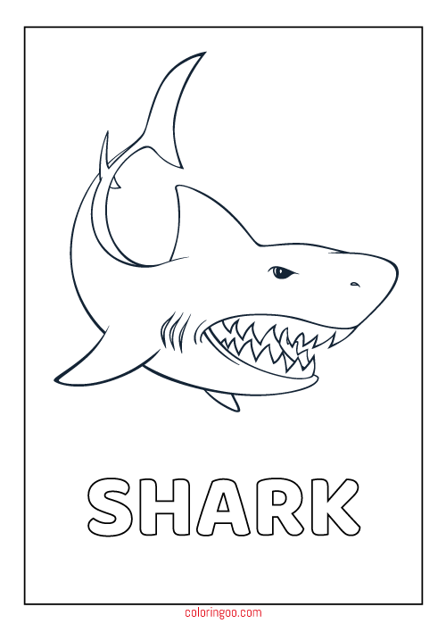 Printable Shark Coloring Pdf Pages For Kids Shark Coloring Pages Cute Coloring Pages Coloring Pages For Boys