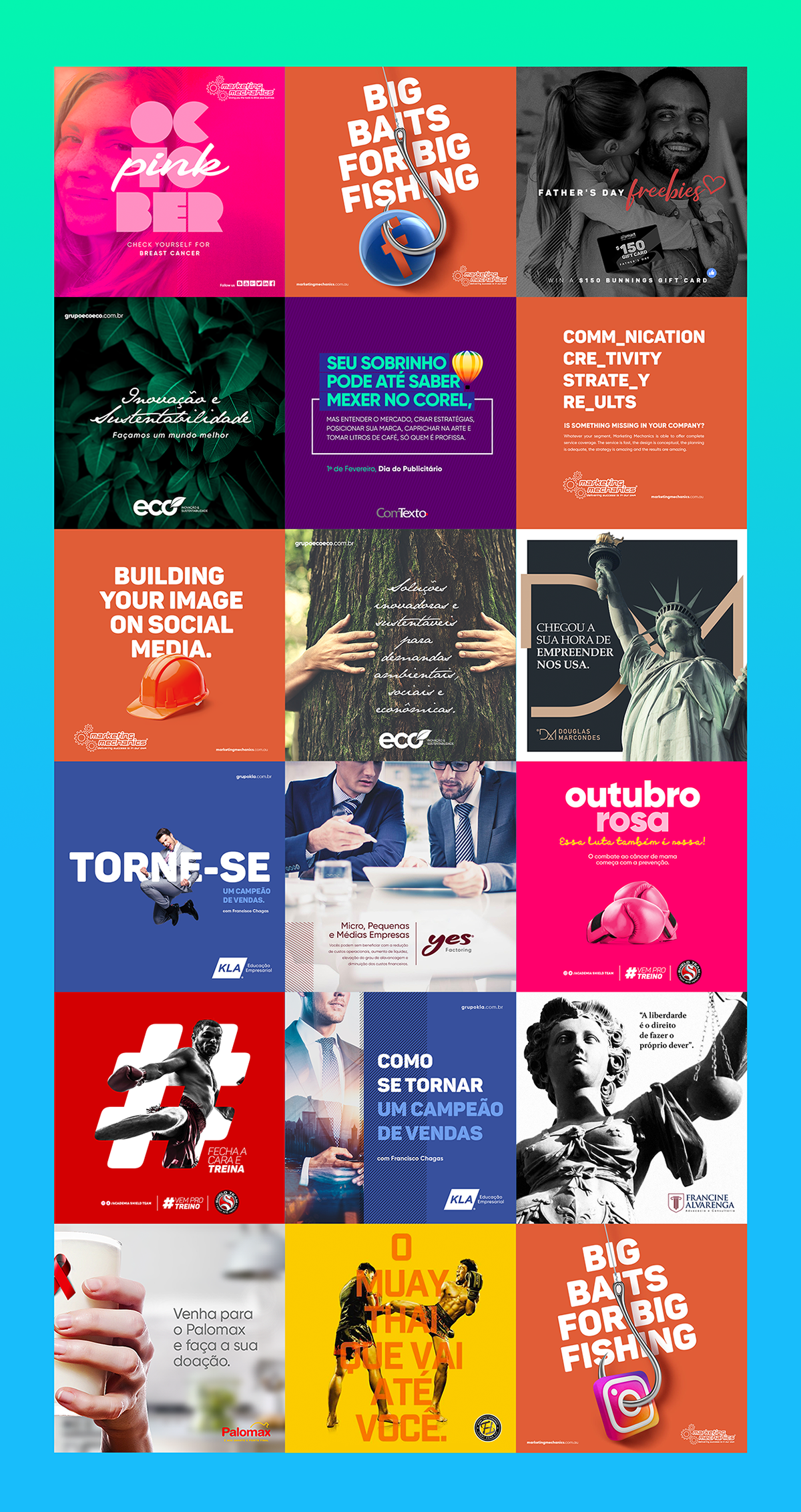 Social Media 2018 On Behance Social Media Design Inspiration Social Media Branding Social Media Design