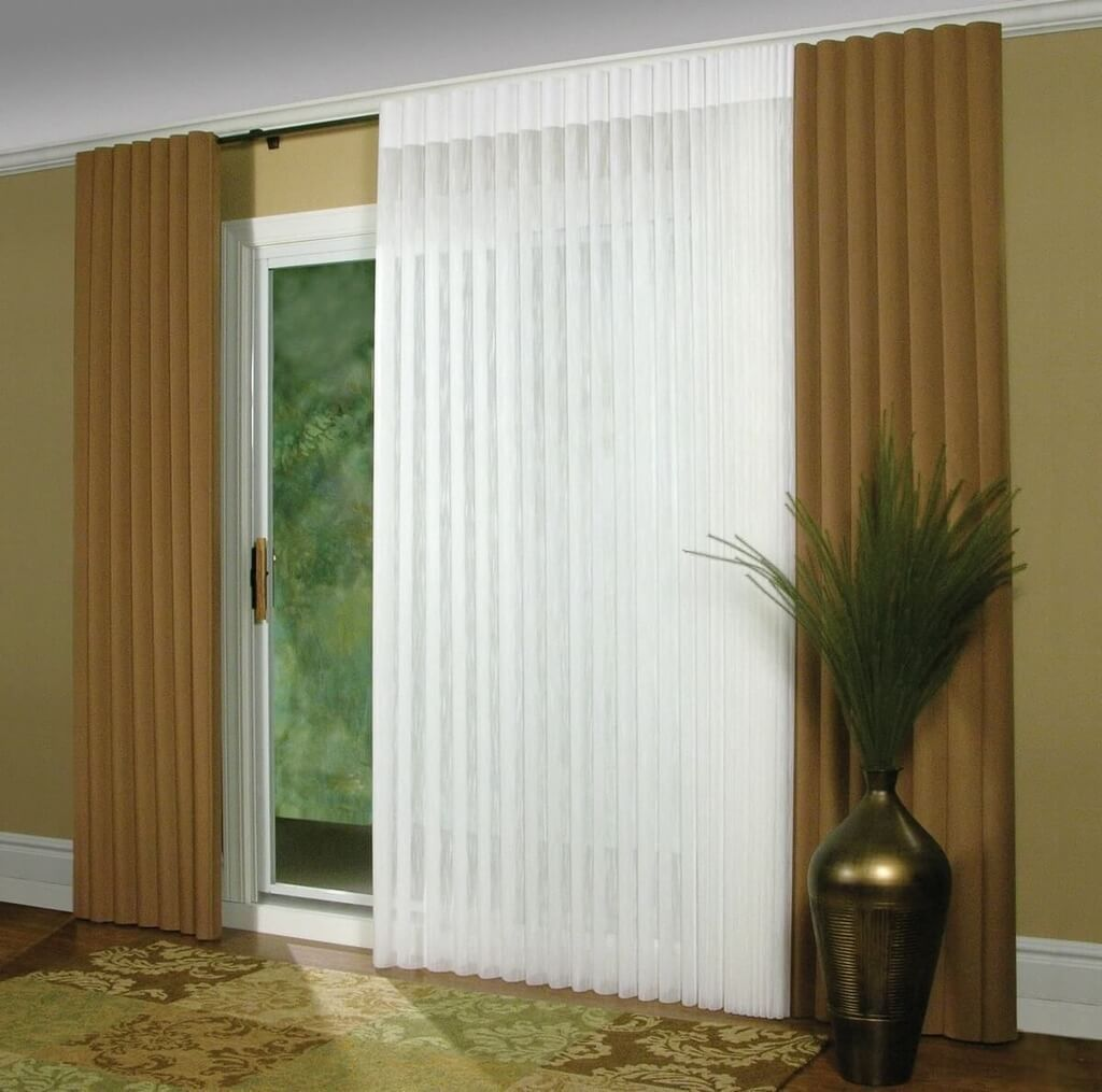 Double pane sliding glass door blinds ideas horizontal or vertical