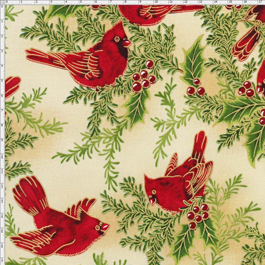Tecido Estampado para Patchwork -  291706 Maison Designs Cor 1360 (0,50x1,40)