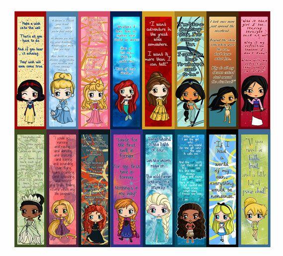 NEW Moana Disney Princess Bookmarks