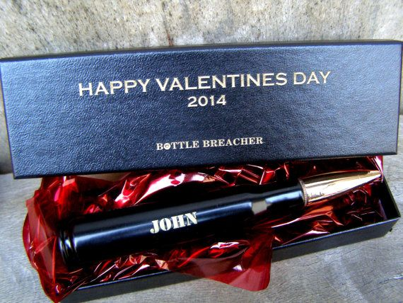 Valentine's Day Gift for Him. Engraved 50 Cal Bottle Opener with Personalized Box. Dad Gift. Boyfriend Gift. Husband Gift.