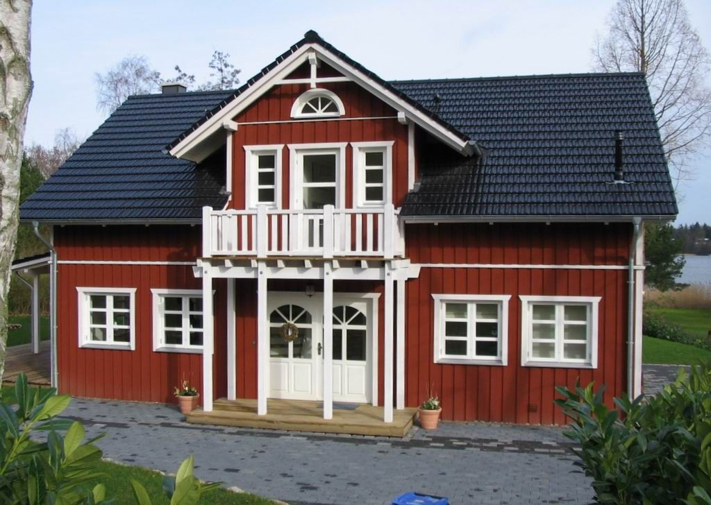 schwedenfassade bungalow pinterest schwedenhaus haust ren und gartenlaube. Black Bedroom Furniture Sets. Home Design Ideas