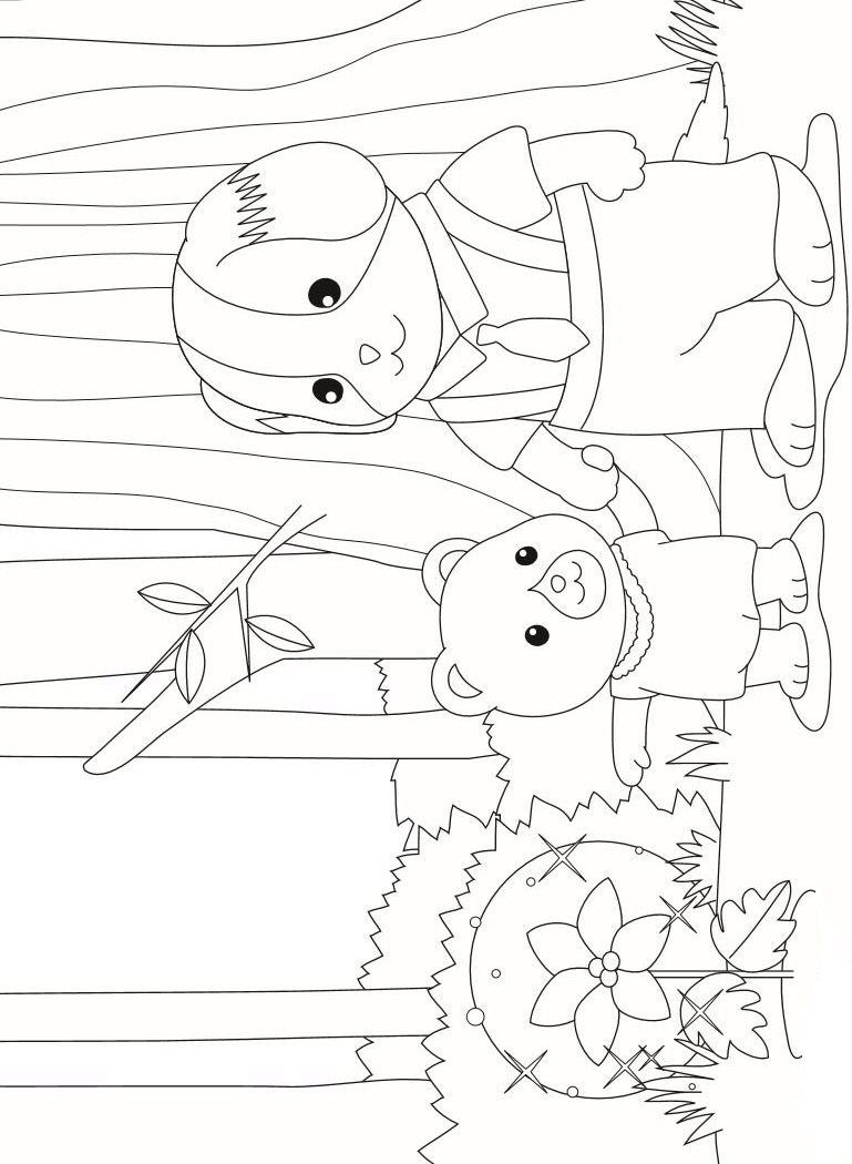 17 Coloring Pages Of Calico Critters On Kids N Fun Co Uk On Kids N Fun You Will Always Find The Best Colo Family Coloring Pages Family Coloring Coloring Pages