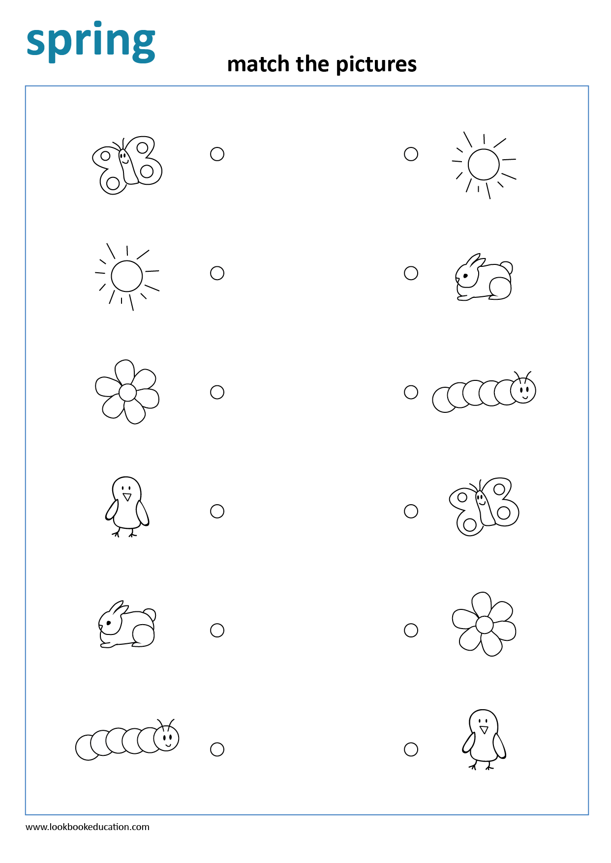 Worksheet Matching Spring In