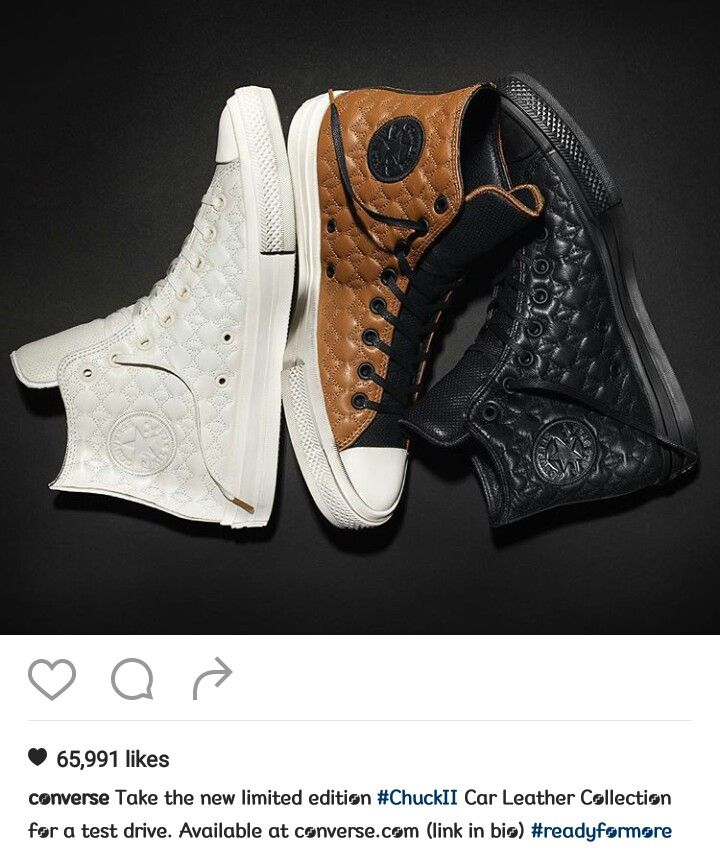 4b57053f36dd02 Is Launching an Exclusive Chuck Taylor II Trio  Automotive leather meets  the updated
