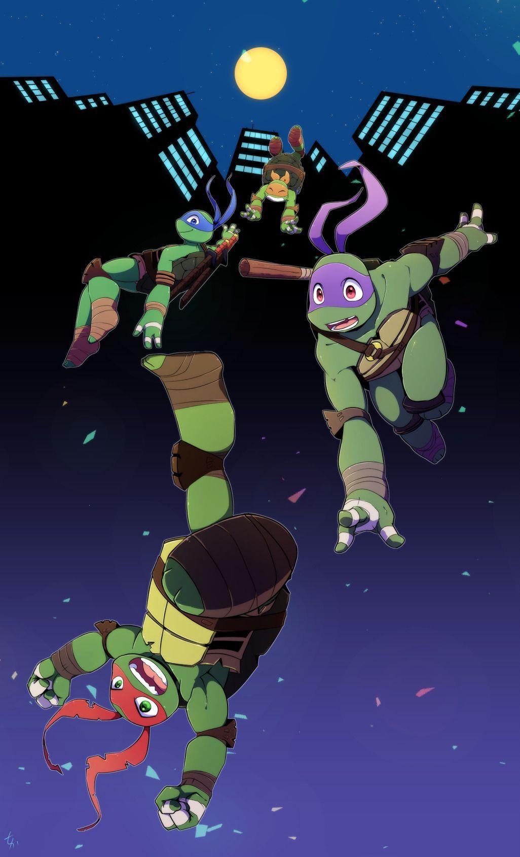 Black And Blue Teenage Mutant Ninja Turtles Artwork Tmnt Turtles Teenage Ninja Turtles