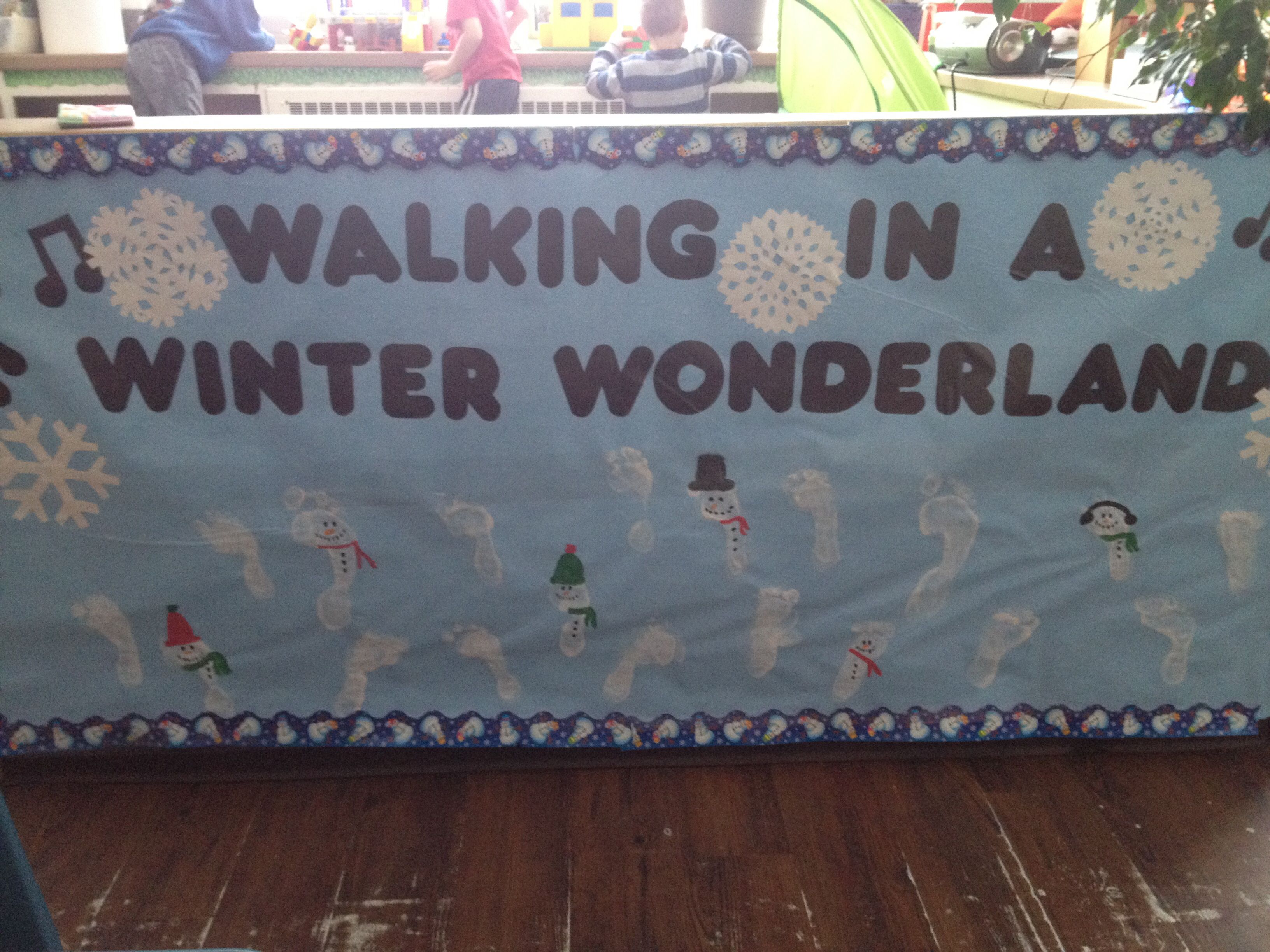 Walking In A Winter Wonderland Footprint Preschool