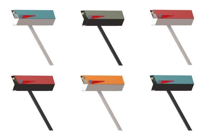 Midcentury Modern Mailbox Reproduction Modbox Usa Now Available Modern Mailbox Mid Century Mailbox Mid Century Modern Mailbox