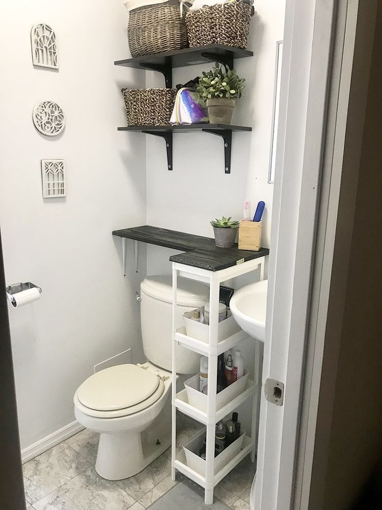 Diy Space Saving Solution For Your Bathroom With No Counter Space With Images Bathroom Design Small Small Bathroom Diy Bathroom Storage