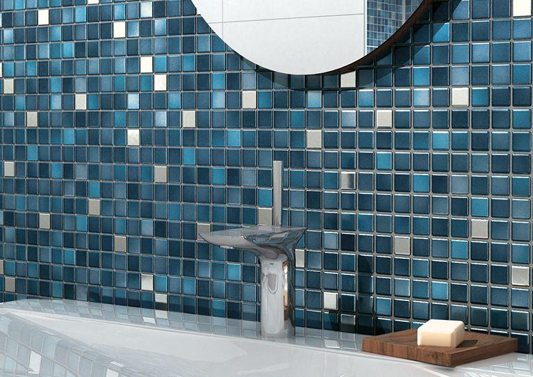 Fliesentrends Fürs Badezimmer Pinterest Badezimmer Blau Fliesen - Mosaik fliesen metallic
