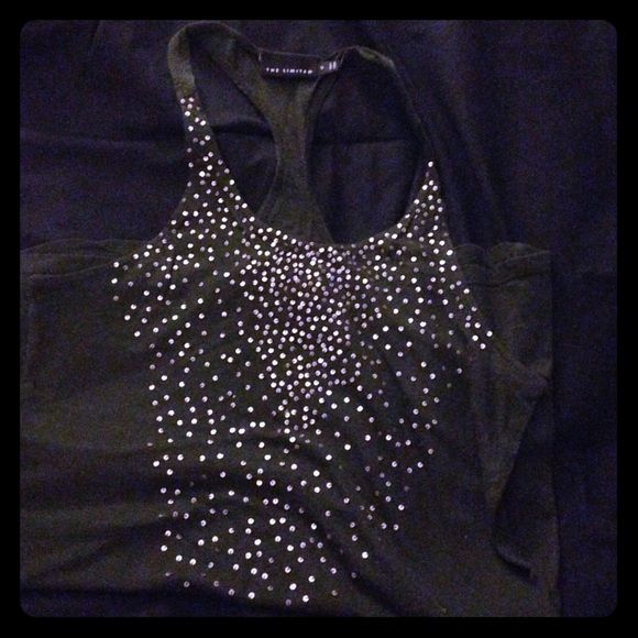 Racer back tank top Dark green with beautiful sequins, racer back tank top from Express. Perfect for the upcoming sunny weather. Cute with jeans or a jean skirt and combat boots. Never worn. Express Tops Tank Tops