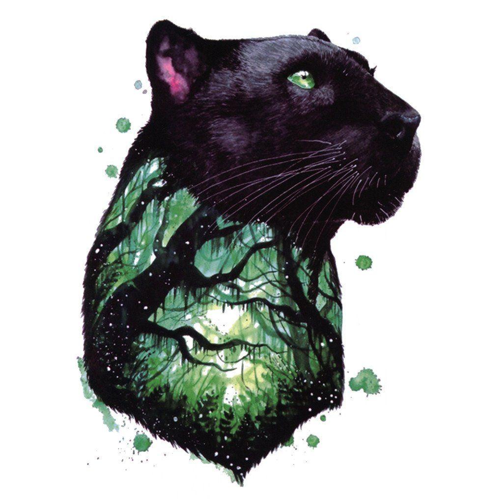 Watercolor Panther Avec Images Tatouage Panthere Panthere