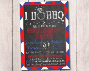 I DO BBQ Engagement Party Invitation by PaintTheDayDesigns on Etsy