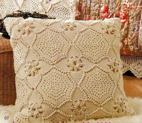 Almofada De Quadrado De Croche Capa De Crochet De Travesseiro
