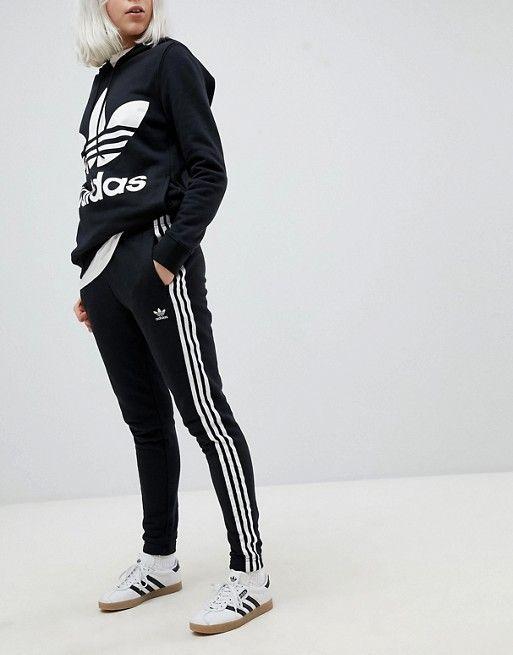adidas Originals adicolor Three Stripe Regular Fit Cuffed