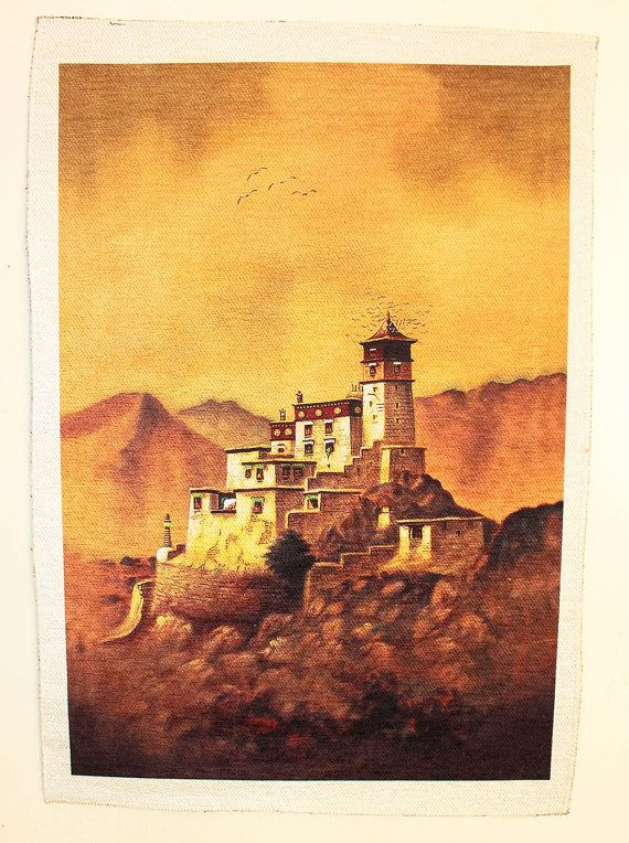 Tibetan Wall Hanging Tibetan Screen print Art by TheLittleTibet ...