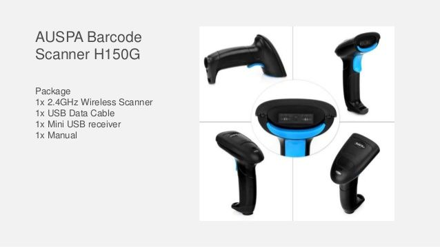 AUSPA Barcode Scanner H150G Package 1x 2 4GHz Wireless