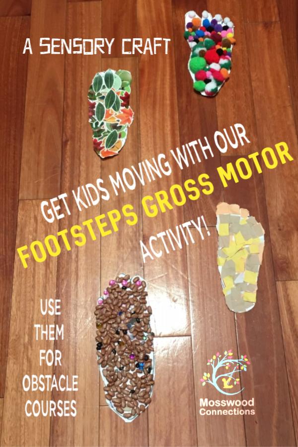 Footprints Sensory Gross Motor Activity Mosswood Connections Gross Motor Activity Sensory Crafts Gross Motor