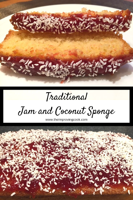 Traditional Jam and Coconut Sponge